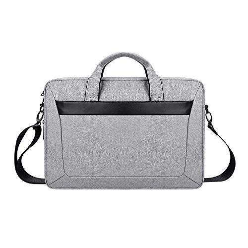 Laptop Case, Oxford Cloth Waterproof Wear-resistant Portable Expandable Laptop Bag for 14.1 inch Laptops, with Detachable Shoulder Strap, Laptop Sleeve Case (Color : Grey)