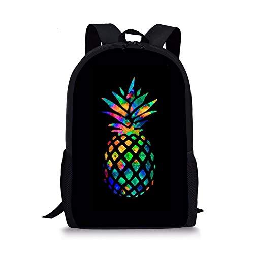 Fashion Pineapple Backpack School Bookbags Casual Daypacks, Best Gift for Teen/Kids/Children/Boys/Girls