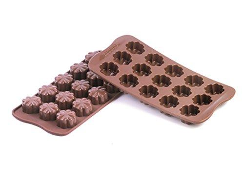 Silikomart Silikonform für Schokolade, Blumen