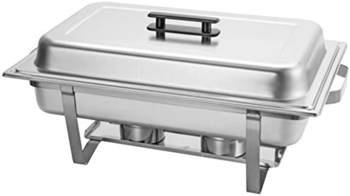 discount Chafing Dish 9-Liter 9.5 Quart Stainless Steel Chafer Buffet Catering Restaurant Water online sale wholesale Pan & Fuel Holder Large Size outlet sale