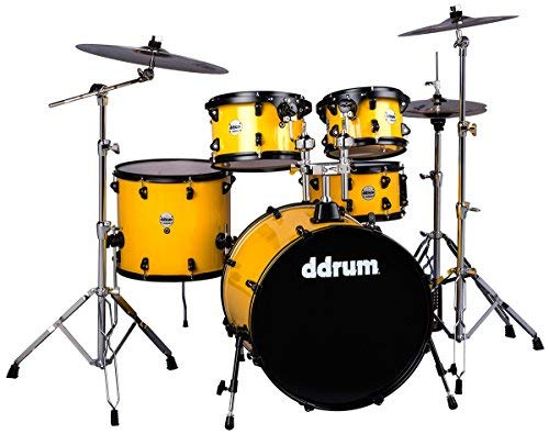 ddrum J2P 522 FY Journeyman Player 5 Piece Drum Set, Flash Yellow
