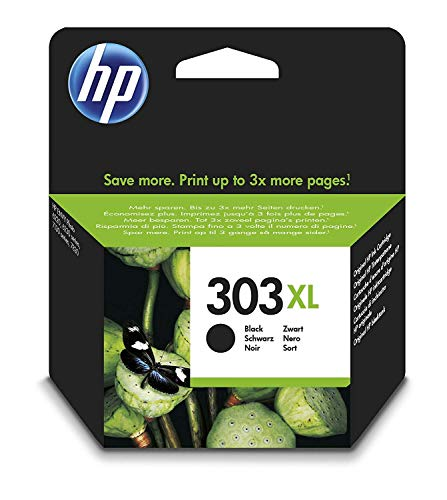 HP 303 XL T6N04AE haut rendement, cartouche d'encre Authentique, imprimantes HP Tango et HP ENVY Photo, Noir