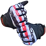 Clutch Sports Apparel Baseball and Softball Batting Gloves - Thin Red Line Flag, Youth X-Large
