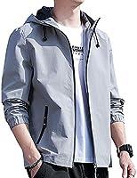 Joy Corn ジャケット メンズ 春秋 ブルゾン おしゃれ カジュアル ビジネス フード付き 防風 おおきいサイズ HB001