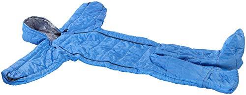 Semptec Urban Survival Technology Schlafsack Anzug: Schlafsack für Erwachsene mit Armen & Beinen, Größe XL, 205 cm, blau (Schlafsack Overall Erwachsene)