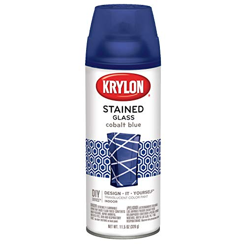 Krylon 9036 Stained Glass Paint 11.5oz-Cobalt Blue, 11.5 oz