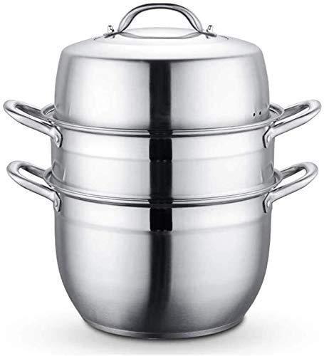 yunyu Cocina a Vapor de Acero Inoxidable Juego multifunción de 3 Niveles Cocina de inducción de cocción a Vapor Cocina de Gas Universal