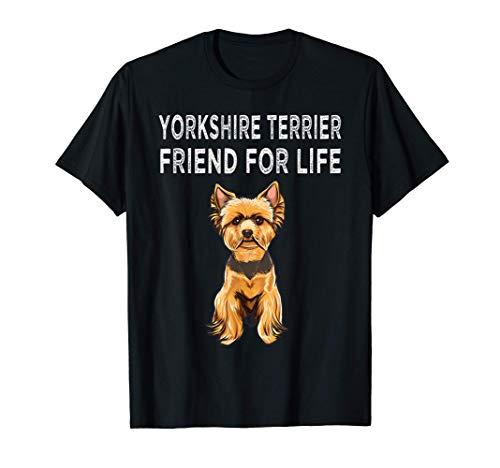Amico Per La Vita Di Yorkshire Terrier Cane Maglietta