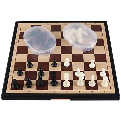 QIAOLI Juego de ajedrez de juegos tradicionales de 11.6 pulgadas, piezas de...