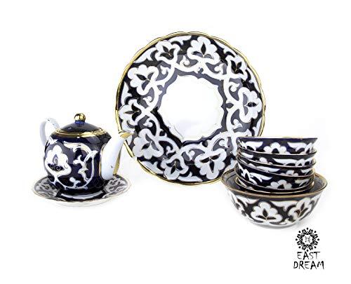 uzbek Set teapot and сups EASTDREAM uzbekistan samarkand samarkand cast iron cauldron zira khiva suzani uzbekistan jewelry bukhara