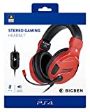 BigBen Interactive - Auriculares para Videojuegos con Licencia Oficial PS4 roja – Playstation 4