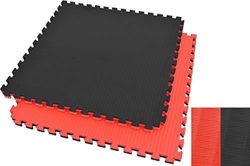 Ninestars Tatami Puzzle 4 cm, color negro y rojo, diseño de paja de arroz