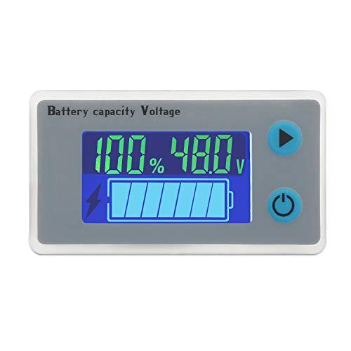 Droking 48 V Batería de plomo ácido Indicador de electricidad Medidor de voltaje Temperatura Medidor de combustible Probador Voltímetro Monitor Panel de pantalla digital para vehículo de automóvil