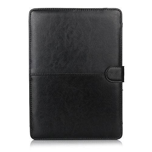 ZiHang PU Funda Protectora Compatible MacBook Pro 13 Pulgadas (A1278), Superior Cubierta de Libro de Calidad Folio con Función del Soporte - Negro