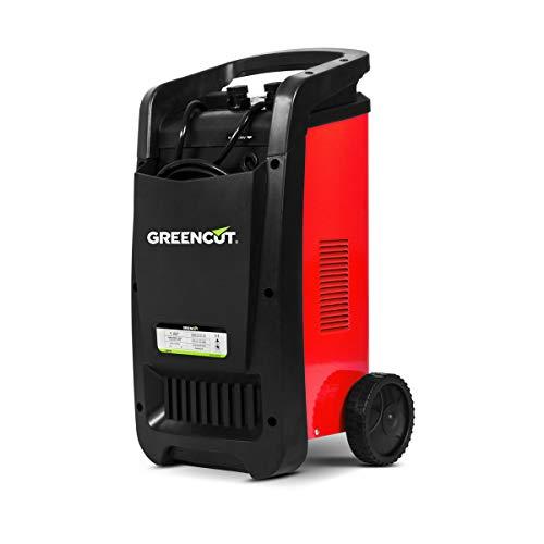 GREENCUT CRB500 - Cargador automático de batería multifunción monofásico de 12V 24V y 50A, cargador con opciones de Carga Rápida y Normal