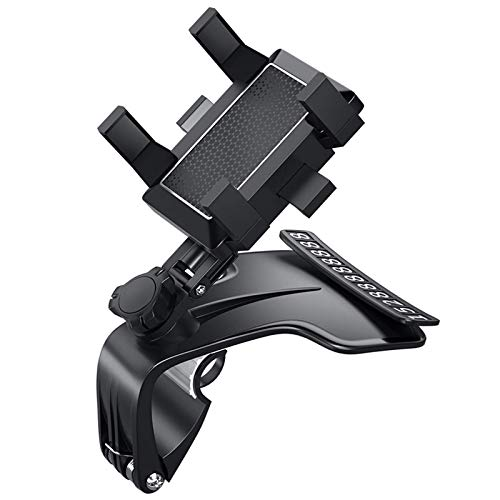xunlu Upgrade 1200 Degrees Rotation Universal Car Phone Mount con Placa de número de teléfono móvil para automóvil en Movimiento Oculto, Adecuado para teléfonos Inteligentes de 3 a 7 Pulgadas, Negro