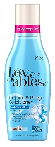 Lovables Fresh Sensation Parfüm- und Pflege-Conditioner, Weichspüler, mit Micro-Oil, 5er Pack (5 x 34 Waschladungen)