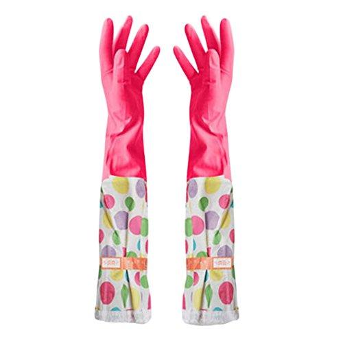 Summer vaisselles Gants Gants imperméables Gants de nettoyage -Une fleur