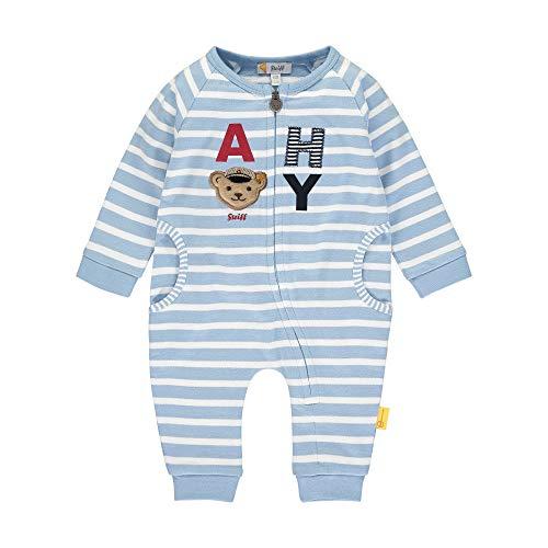 Steiff Baby-Jungen Strampler, Blau (Forever Blue 6027), 56 (Herstellergröße: 056)