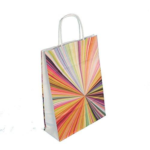 150-200 Papiertragetaschen Einkaufstüten Tragetaschen aus Papier 90-100g/m² mit Papierkordel Henkel Neutraldruck