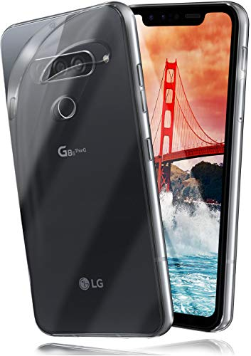moex Aero Hülle für LG G8s ThinQ - Hülle aus Silikon, komplett transparent, Handy Schutzhülle Ultra dünn, Handyhülle durchsichtig - Klar