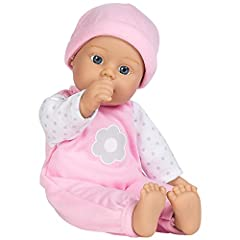 Sweet Baby Girl Blossom is one of Adora's must have machine washable baby dolls for 1 year olds + At 11 inches from head to toe & baby powder smell she's the perfect petite baby doll for little ones Her cute baby doll clothes include a removable polk...