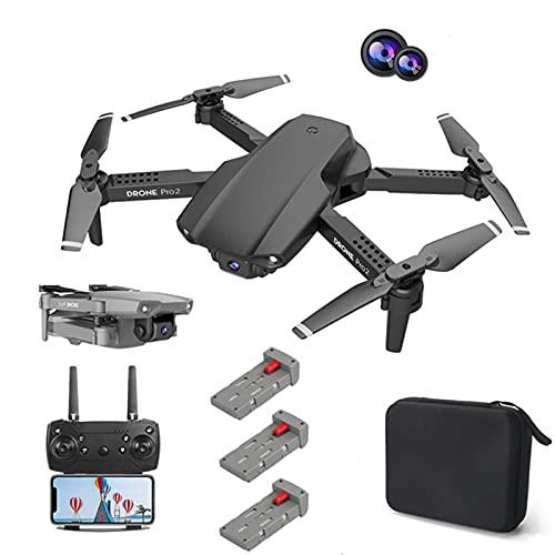 Lilon E99Pro 4K HD Mini Drone con doppia fotocamera WiFi grandangolare Fpv Trasmissione in tempo reale Drone professionale Pressione dell'aria Altitudine Mantieni pieghevole Quadricottero RC