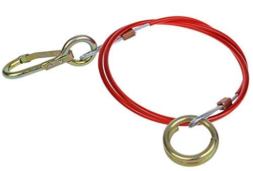 Real-Parts-Holland 50.50.08 Abreisseil Bremsseil Sicherungsseil 1 Meter für Anhänger, 1m mit Ring