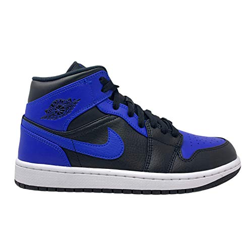 Nike Air Jordan 1 Mid, Zapatillas de bsquetbol Hombre, Black Hyper Royal White, 42 EU