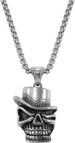 Necklace For Men Women New Stainless Steel Gothic Evil Horn Devil Demon Skull Pendant Necklace Eagle Hip Hop Necklace Punk Halloween Jewelry For Men 14 Fashion Pendant Necklace Girls Boys Gift