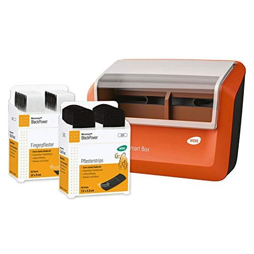 WERO Smart Box® Pflasterspender gefüllt (Textil | Schwarz | Extrastark)