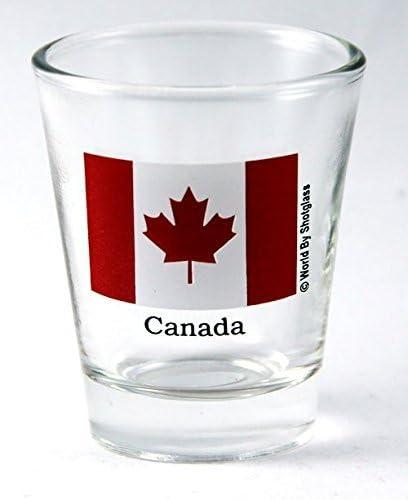 Mail cheap order Canada Flag Shot Glass