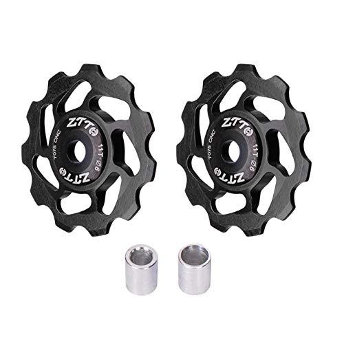 2 x Schaltwerk-Riemenscheibe, Fahrrad-Stützrad, Keramik-Aluminiumlegierung, Umwerfer-Riemenscheibe, Fahrrad-Umwerfer-Riemenscheibe, Fahrrad-Umwerfer-Riemenscheiben-Set