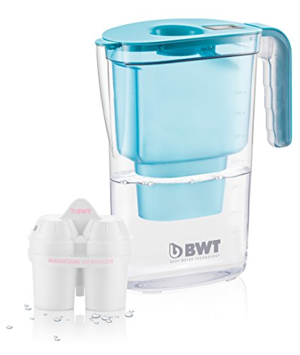 BWT Easy-Fit Caraffa Filtrante Vida, Blu, 26.4x11.5x28.7 cm