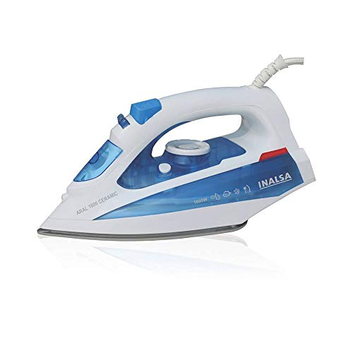 Inalsa Aral 1600-Watt Steam Iron with Ceramic Coated Sole Plate and Self...