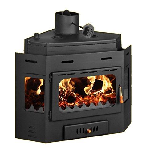 Chimenea insertada de leña para estufa de esquina multicombustible integrado en Prity АW16