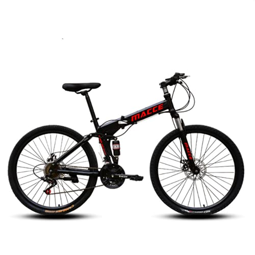 Bicicleta De Montaña De 26 Pulgadas, Bicicleta De Fondo, Rueda De Lapos De Bicicleta Plegable Adecuada para Bicicletas De Color Masculino Y Femenino,Negro