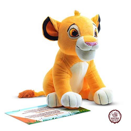 Peluche Simba - El Personaje de Dibujos Animados más Famoso de Nuestra Infancia. Material de Calidad y Seguro (Hakuna Matata Brand)