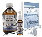 Liquid for Life® Kolloidales Silber 25ppm - 250ml Silberwasser Natürliches Antibiotikum inklusive 30ml Sprühflasche - Zubehör gegen Warzen, Pilze, Keime, Neurodermitis in STRAHLENSCHUTZVERPACKUNG