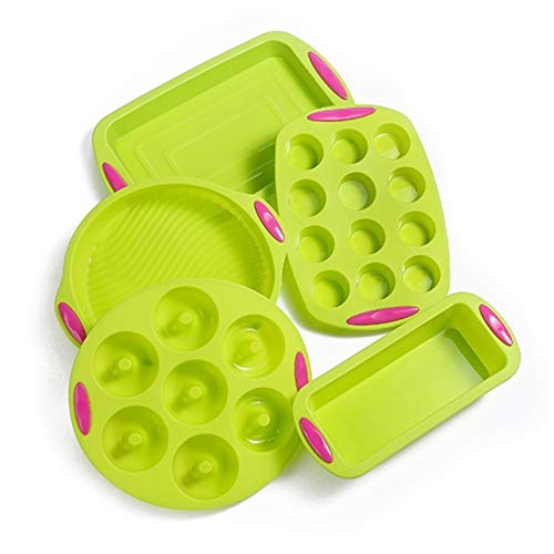 Depruies Silicone Baking Tray Moulds 41 Piece Silicone, 111 Non-Stick-Baking Mold Silicone bakingware Backset Non-Stick-Baking Dish, bpa-Free, a Must for Every Kitchen !!! (Size : 5pcs)