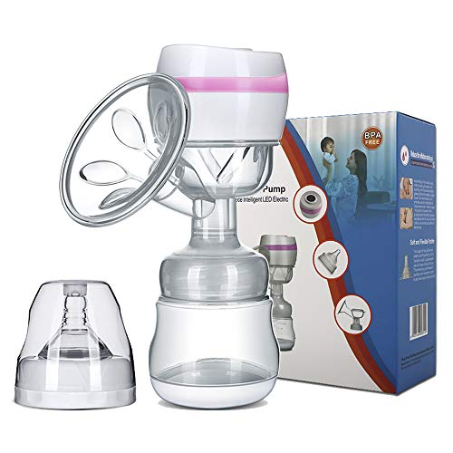 Electric Breast Pump Portable Battery Baby Milk Extractor Rechargeable Single Breastfeeding Pump with 3 Modes Massage amp Suction Level and Backflow Protector for Travel Pink