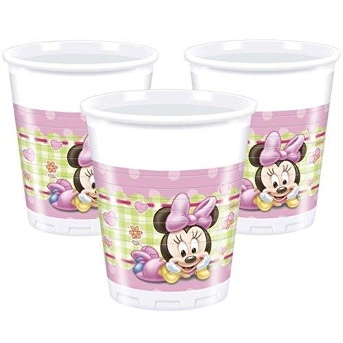 8 Gobelets en Plastique Bébé Minnie 20 cl