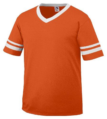 Augusta Sportswear Sleeve Stripe Jersey, Orange L