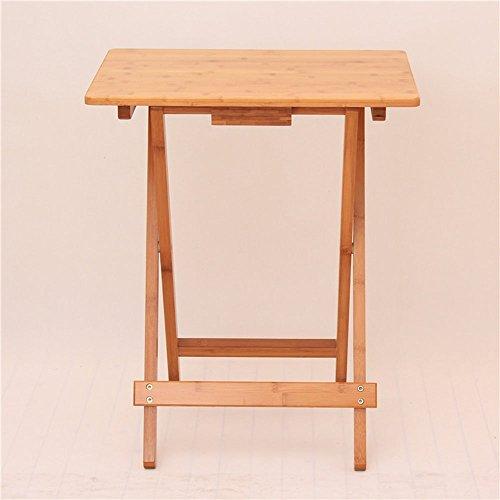 ZXQZ Tableaux pliants Table carrée Table Basse Simple Table Portable Tablette Portable Table en Bois Plein Bois (Taille facultative) Bureau Pliant (Taille : 50 * 36.5 * 62cm)