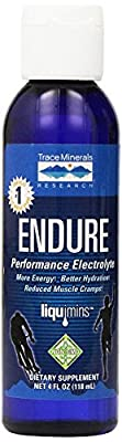 Trace Minerals Research, Endure, Performance Electrolyte, 4 fl oz (118 ml) from Trace Minerals