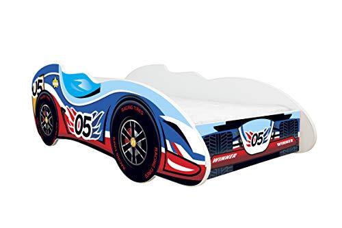 Topbeds - Cama infantil, diseño coche de carreras, colchón incluido, madera, 05 CAR, 140 x 70 centimeters