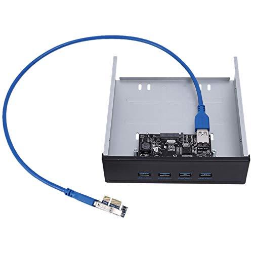 Mogzank Express Controller Card Ssu Fu3401 Pci-E A 4 Puertos USB 3.0 Pci Express Tarjeta De Expansión con Tarjeta De Adaptador De Expansión para Escritorio