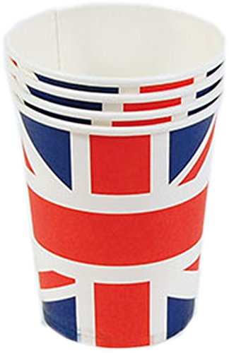 Union Jack Paper Cups (8 in packet)