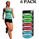 OPXTO 2x LED Safety Bands Glow Bracelet Safety Wristband Ankle Reflective Strips Bright High Visibility Armband for Running,Jogging,Cycling,Biking,Walking Outdoor Sports,USB Charged.