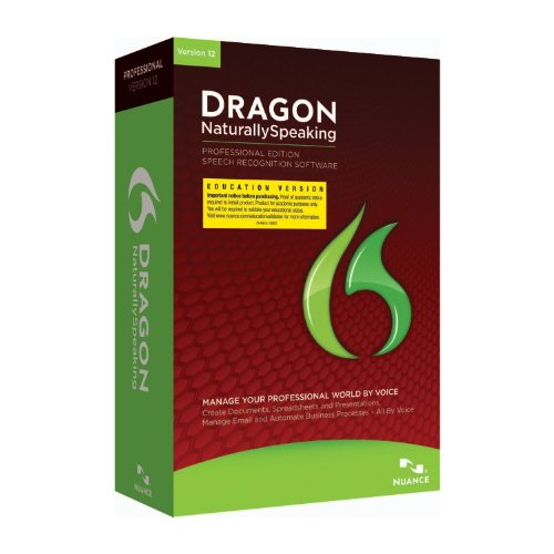 Nuance Dragon NaturallySpeaking 12 Professional, EDU